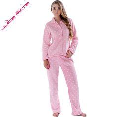 Autumn Winter Warm Pyjamas Women Sleepwear Female Fleece Pajamas Sets Plus  Size Home Suits Sleep Lounge 3aa564122