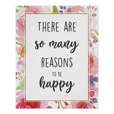 Inspirational Art Print -There Are So Many Reasons - typography gifts unique custom diy Reasons To Be Happy, Poster Prints, Art Prints, Handmade Shop, Nursery Art, Floral Watercolor, Wedding Stationery, Layout Design, Unique Gifts