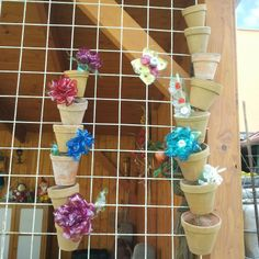 Make a Garden Decoration from Flower Pots - DIY Home - Guidecentral. Guidecentral is a fun and visual way to discover DIY ideas, learn new skills, meet amazing people who share your passions and even upload your own DIY guides. Emily Videos, Flower Pots, Flowers, Diy Flower, Diy Projects, Garden, Plants, Blog, How To Make