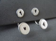 How you want these sterling silver ear jackets is totally up to you, as they can be personalized to your taste! Have fun, picking the letters, numbers or symbols you'll like to be stamped on your earrings (please see the last picture).  Here are just few exaples of nice combos: *I love you more: I (heart symbol) U M *Im a star: I M A (star symbol) *You are a star U R A (star simble) *You are my star: U R M (star symbol) *One of a kind: O A K *You make me smile: U M M (smile symbol) *My…