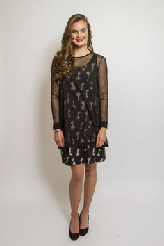Keyhole Dress, Black Keys (5617Q)