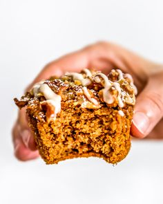 These oil free Healthy Vegan Pumpkin Muffins are sure to please. Perfectly tender with just the right amount of pumpkin and cinnamony goodness. #wholefoodplantbased #vegan #oilfree #glutenfree #plantbased #foodphotography | monkeyandmekitchenadventures.com
