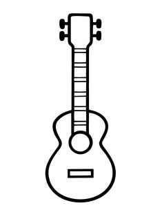 Bumba Tegninger for barn 2 Mini Drawings, Art Drawings For Kids, Easy Drawings, Coloring For Kids, Coloring Pages, Guitar Clipart, Guitar Drawing, Music Crafts, Music Party