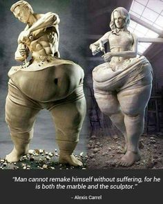 """/fph/ Fat People Hate /fps/ Fat People Stories - """"/fit/ - Fitness"""" is imageboard for weightlifting, health, and fitness. Weight Loss Motivation, Fitness Motivation, Skinny Motivation, Friday Motivation, Motivation Goals, Fitness Goals, Sculpter Son Corps, Oeuvre D'art, Sculpture Art"""