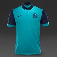 Nike Blackburn SS Away Stadium Shirt - Turbo Green/Obsidian