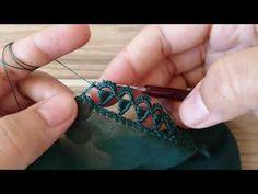 BÖYLE BİR ZARİFLİK OLAMAZ ÇOK GÜZEL OLDU 👌TEK SIRA FISTIK OYASI - YouTube Hand Embroidery Flowers, Bead Embroidery Patterns, Hand Work Embroidery, Hand Embroidery Stitches, Baby Knitting Patterns, Knitting Stitches, Crochet Patterns, Bead Crochet, Crochet Lace