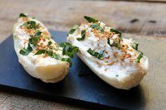 Endivias rellenas de queso fresco y salmón - El Aderezo - Blog de Recetas de Cocina