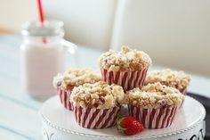 Erdbeerduo: Strawberry-Cheesecake-Streusel-Muffins & Strawberry-Cheesecake-Shake Rezepte