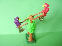Kinder Toy Lora Nora Balancing Birds with Metal Tails from 2000 | eBay