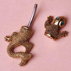 Nouveau lézard gecko strass. piercing nombril nombril barbell anneau de corps bijoux piercing bijuterias parfums pour la personnalité