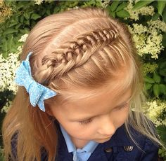 Kids Hairstyle, All Hairstyles, Little Girl Hairstyles, Hair Ideas, Little Girls, Braids, Hair Cuts, Daughter, Hair Styles
