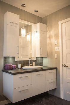 Bathroom Vanity Ideas – Looking for bathroom Vanity ideas? Check out the design … – Badezimmer Ideen Condo Bathroom, Bathroom Renos, Laundry In Bathroom, Bathroom Renovations, Bathroom Furniture, Modern Bathroom, Rustic Furniture, Washroom Vanity, Paint Bathroom