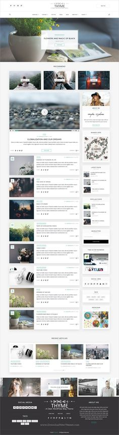 Thyme is a wonderful responsive #WordPress #blogging theme with 15+ homepage layouts, 5+ slider layouts, 6 post formats and amazing features download now➩ https://themeforest.net/item/thyme-a-responsive-wordpress-blog-theme/19131593?ref=Datasata