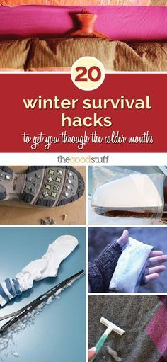 20 Winter Survival Hacks to Get You Through the Colder Months - thegoodstuff http://www.coupons.com/thegoodstuff/winter-survival-hacks/