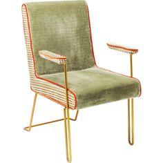 Zelená stolička s opierkami Kare Design Betty