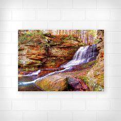 Honey Run Waterfall - Photo Print - Scenic Photography - Waterfall Photograph - Landscape Photograph - Home Decor Photo - Ohio Parks Photo