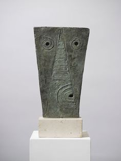 Mask, 1946, Bronze, by William Turnbull: One of the most highly regarded British sculptors of the 20th century