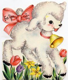 Vintage Lamb Easter Card easter images for you on Easter Day Easter Lamb, Easter Bunny, Easter Food, Vintage Valentines, Vintage Holiday, Vintage Greeting Cards, Vintage Postcards, Easter Pictures, Diy Ostern