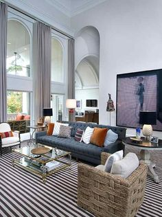 Atlanta Home Designed By Nate Berkus Interiors. Eclectic Living Room, Home  Living Room,