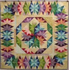 Capistrano quilt. Its block and border were designed by Judy Martin for her book Stellar Quilts 2010 Judy thinks this example was made by Doris Hareland