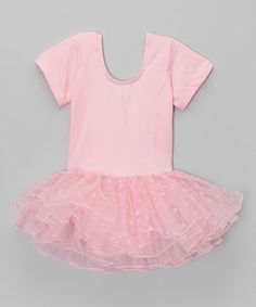 Wenchoice Pink Heart Skirted Leotard - Infant & Girls | zulily