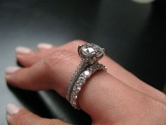 i love the thick band and thin engagement band. - pleasureweddingz.compleasureweddingz.com