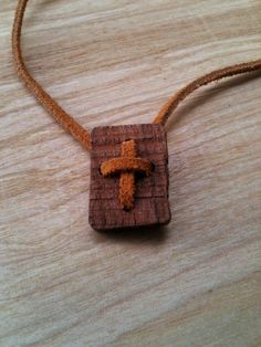 Cross Pendant and simple Suede adjustable by AtkinsFamilyCrafts, $9.50