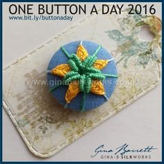 Day 80: Avens #onebuttonaday by Gina Barrett
