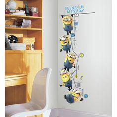 Despicable Me 2 Growth Chart Peel and Stick Wall Decals Roommates Despicable Me / Minions Wall Murals Minion Room Decor, Minion Bedroom, Minion Nursery, Wall Painting Decor, Wall Decor, Despicable Me 2, Bedroom Stickers, Kids Decor, Home Decor