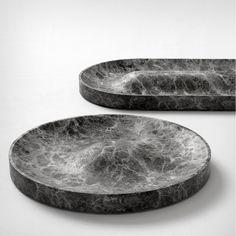 Jean Louis Iratzoki; Marble 'Domo' and 'Batela' Trays for Retegui, 2014.