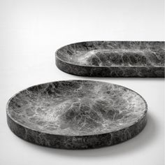 Jean Louis Iratzoki; Marble 'Domo' and 'Batela' Trays for Retegui, 2014
