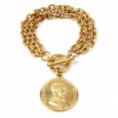 Moroccan Coin Charm Bracelet