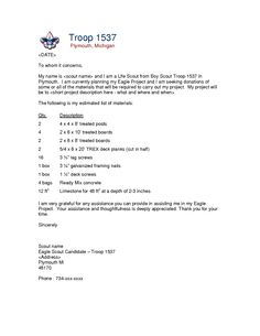23993b0446fc180427c4bb4fd287673c--letter-sample-eagle-project Sample Donation Request Letter Template Scout on free campaign, relay for life,
