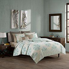 INK+IVY Melbourne Coverlet Blue Mini Set - Full/Queen Price: USD 109.95  | http://www.cbuystore.com/product/ink-ivy-melbourne-coverlet-blue-mini-set-full-queen/10127803 | United States