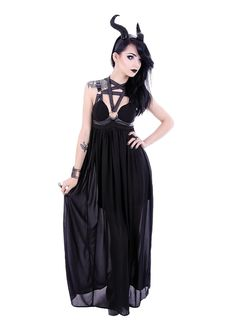 Restyle Pentagram Dress | Attitude Clothing