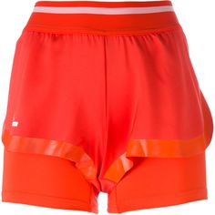 Adidas By Stella Mccartney Barricade shorts ($42) ❤ liked on Polyvore featuring activewear, activewear shorts, red, adidas sportswear, adidas activewear and adidas