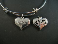 Twin Charm Double Sided Twin Baby Feet  Alex and by DesignsBySuzze