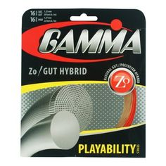 Gamma Zo/Gut Hybrid Tennis String, (M) Red (X) Natural by Gamma. Save 20 Off!. $23.95. Combining the superior playability of high quality natural gut with the durability and control of a polyester gives a player the best of both worlds. For durability and control, use the Zo Magic in the mains. For a softer and playable feel use the Gamma Natural Gut in the mains.