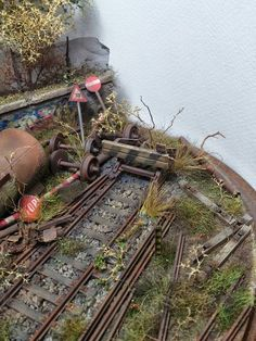 """Abandoned Rail..."" By George Mefsut. #diorama"