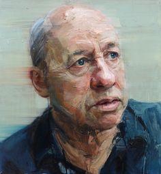 Colin Davidson Portrait of Mark Knopfler 2012 oil on linen 127 x 117 cm