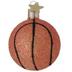 Hoops! Glass Basketball Christmas Ornament by Santa Klaus & Company™ Great ornament for your sports fan! Two inches in width. This Hoops! basketball ornament was made in the