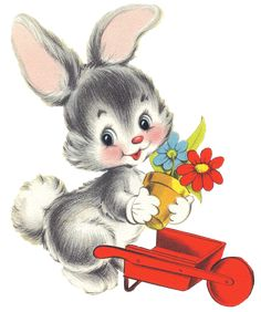 bunny on sled Bunny Art, Cute Bunny, Cute Drawings, Animal Drawings, Cute Images, Cute Pictures, Baby Animals, Cute Animals, Easter Paintings