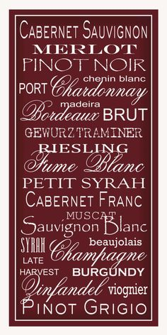 Subway Art Sign Wine List Typography Print 10x20 by PaperBleu, $23.00