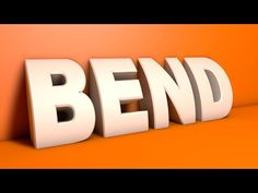 Cinema 4D Tutorial - Bend 3D Text - YouTube