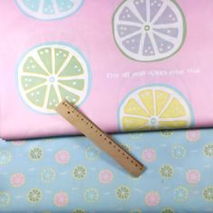 100*160CM fresh summer lemen printed pattern 100% cotton twill kids bedding fabric for DIY cushions clothes quilting telas cloth