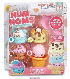 Num Noms Scented Starter 4-Pack *Banana Split Ice Cream VHTF #MGA