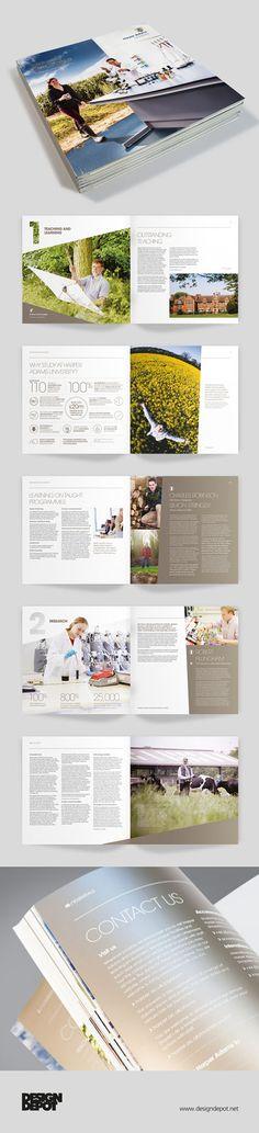 Harper Adams prospectus artwork, university, identity, branding, design depot, prospectus, education, layouts