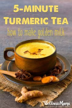 Turmeric tea or golden milk is an amazing immune-boosting remedy that contains turmeric, cinnamon, ginger, and pepper in a milk/broth base.