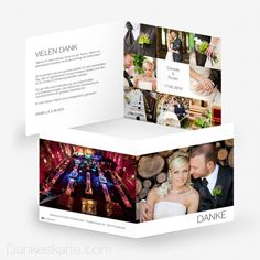 Dankeskarte Bilderreich 14.5 x 14.5 cm - Dankeskarte.com Christmas Cards, Polaroid Film, Wedding Inspiration, Thanks Card, Wedding Anniversary, Cards, Pictures, Christmas E Cards, Xmas Cards