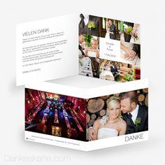 Dankeskarte Bilderreich 14.5 x 14.5 cm - Dankeskarte.com Christmas Cards, Polaroid Film, Wedding Inspiration, Thanks Card, Wedding Day, Cards, Pictures, Christmas Greetings Cards, Xmas Cards